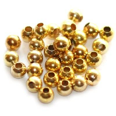 beads 3.2 mm gold color