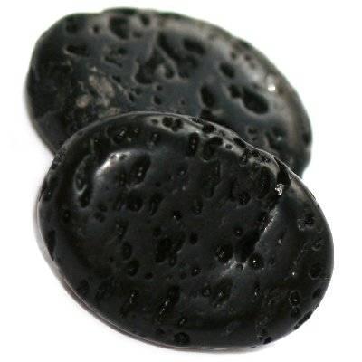 owale wulkan 15 x 20 mm kamień naturalny