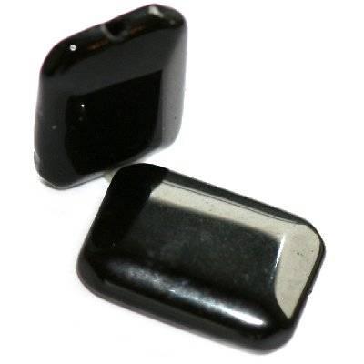 prostokąty czarny onyks szlif 14 x 20 mm kamień półszlachetny syntetyczny