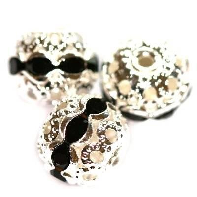 séparateurs boules zirconium noir 10 mm