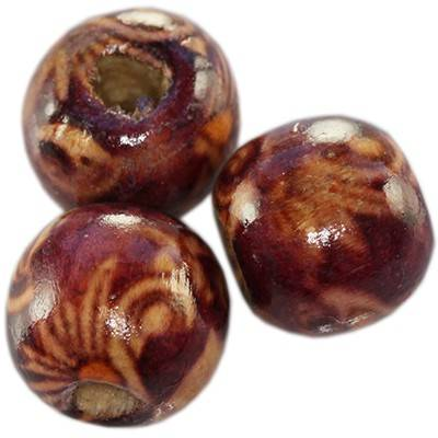 round wooden beads ivy 12 mm