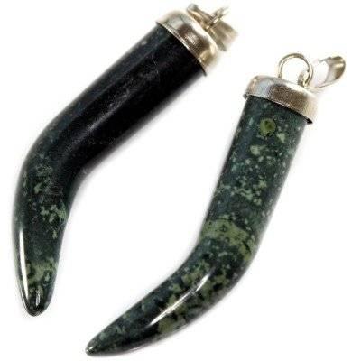vedhæng tænder (hornperle) kambaba jaspis 30 mm