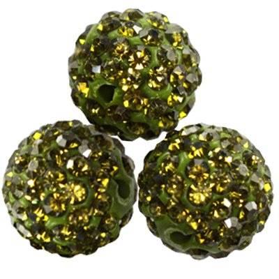 perles émeraude fimo boules caramballa cristaux 12 mm