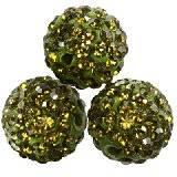 perline fimo sfere caramballa allo smeraldo cristalli 12 mm