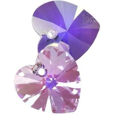 Swarovski heart pendants violet AB 14.4 x 14.0 mm
