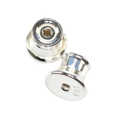 sterling silver 925 ear nut long
