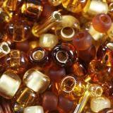 Toho beads mix kohaku- amber mix TX-01-3219
