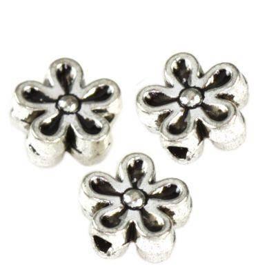 kovinske dekorativne kroglice rože 3,2 x 7 mm