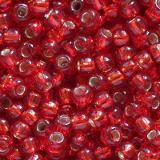 Toho perle round silver-lined ruby 2.2 mm TR-11-25C