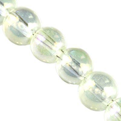 round Bubble Beads AB citrine 6 mm
