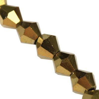 Crystaline toupies à revêtement de cuivre de 4 mm / perles de cristal