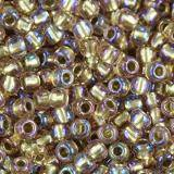 Toho beads round inside-color rainbow crystal/gold-line 2.2 mm TR-11-268