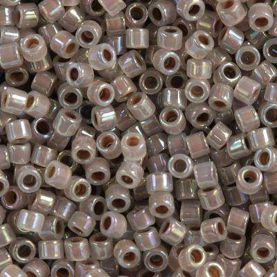 Miyuki Delica beads cocoa lined opal ab 1.6 x 1.3 mm DB-1749