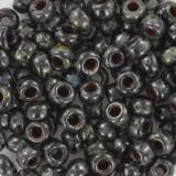 Perles Miyuki round opaque picasso black 6/0 #6-4511