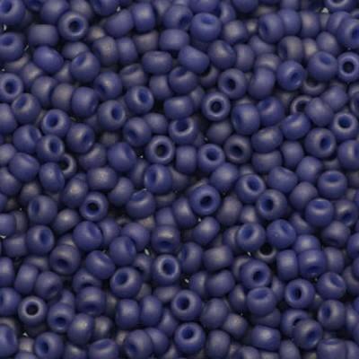 Perles Miyuki round opaque matte luster cobalt 11/0 #11-2075