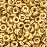 Perline Miyuki spacer duracoat galvanised gold 3 x 1.3 mm #SPR3-4202