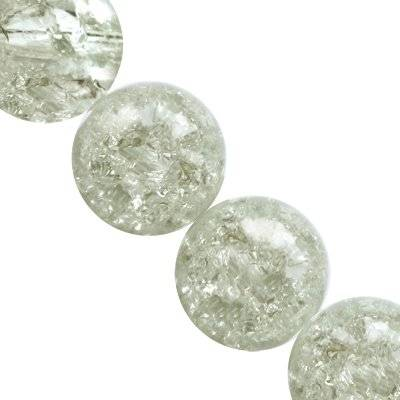 crackle beads beads white color inside 12 mm