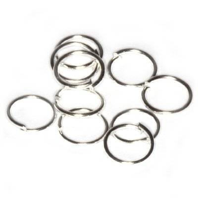 anneaux argentés ouverts 6 mm