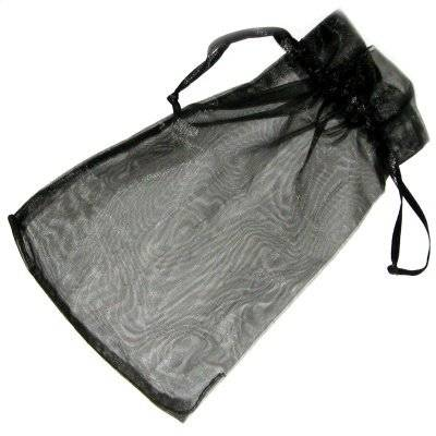 organza bag black 12 x 18 cm