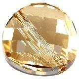 Swarovski twist beads crystal golden shadow 18 mm