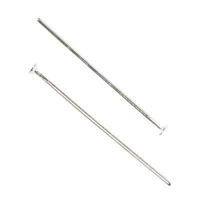 head pins 40 mm silver color jewellery findings