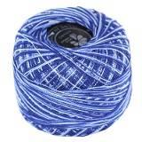bobine en laine bicolore bleue