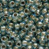 Toho beads round gold-lined aqua 2.2 mm TR-11-990
