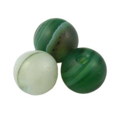 round mat agate dark green 6 mm