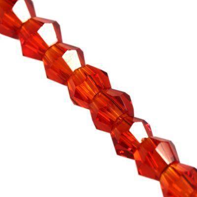 Crystaline toupies rouges 2 mm / perles de cristal