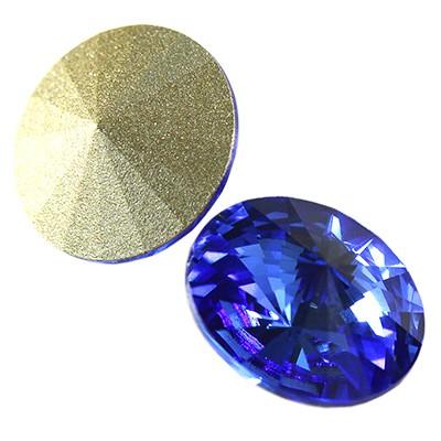 Swarovski round stone sapphire f 12 mm