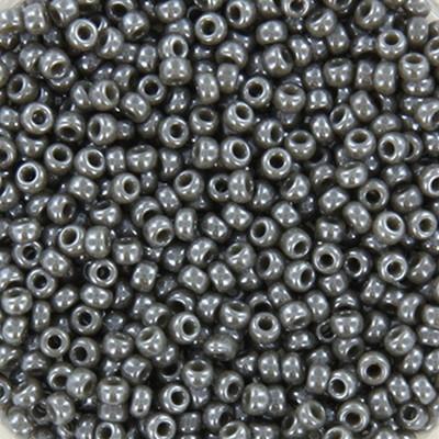 Miyuki round beads opaque luster smoke 11/0 #11-2479