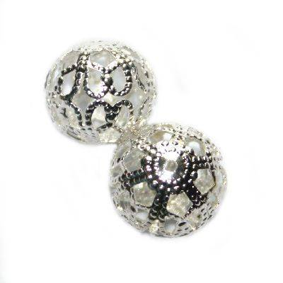 decorative hollow bead 10/12 mm
