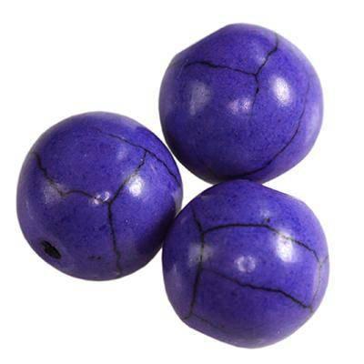 lapis lauzli china beads 8 mm / semi-precious stone synthetic