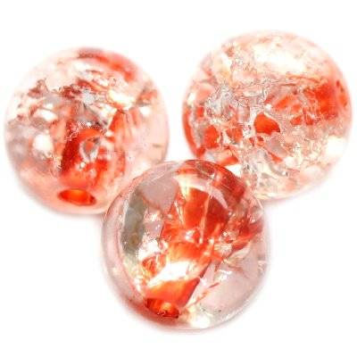 perles crépitement couleur orange à l'intérieur de 12 mm