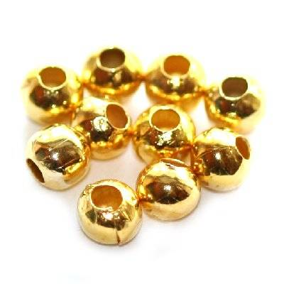 beads 4 mm gold color