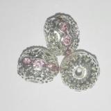 przekładki kule z cyrkoniami róża 8 mm