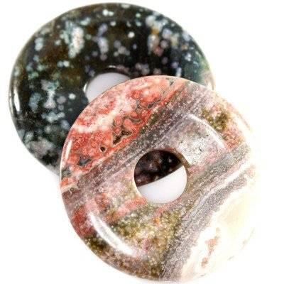 zawieszki okrągłe oceaniczny jaspis 40 mm kamień naturalny