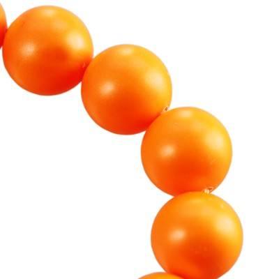 Swarovski crystal pearl neon orange 4 mm