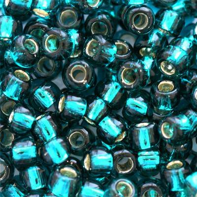 Toho beads round silver-lined teal 3 mm TR-08-27BD
