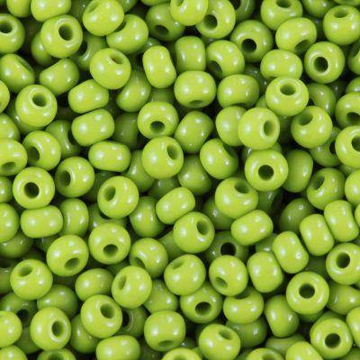 PRECIOSA Rocaille natural opaque grass green 2.1 mm