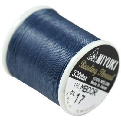 Miyuki hilo de nylon blue