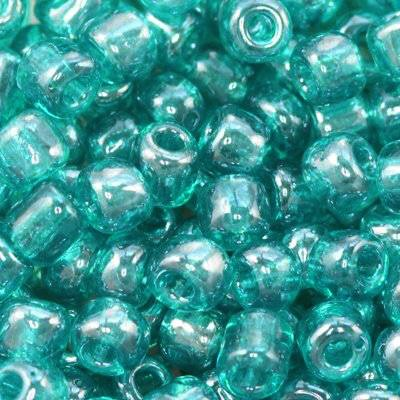 glass seed beads turquoise 3.5 mm