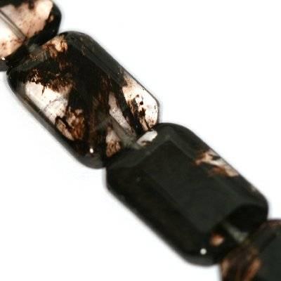 cegiełki czarny kwarc mszysty 14 x 20 mm kamień jubilerski