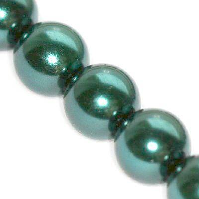 szklane perełki szmaragdowe 12 mm