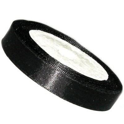 satin ribbon black 6.5 mm