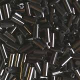 glass beads tubes black night 4.5 mm