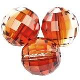 Swarovski chessboard beads crystal red magma 12 mm