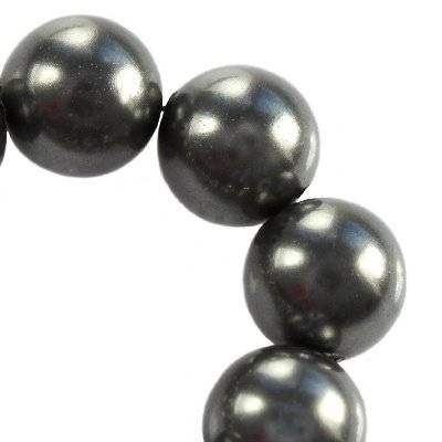 Swarovski crystal dark grey pearl 4 mm