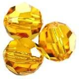 Swarovski round beads sunflower 6 mm