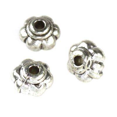 metal spacers beads flowers 4 x 5.5 mm